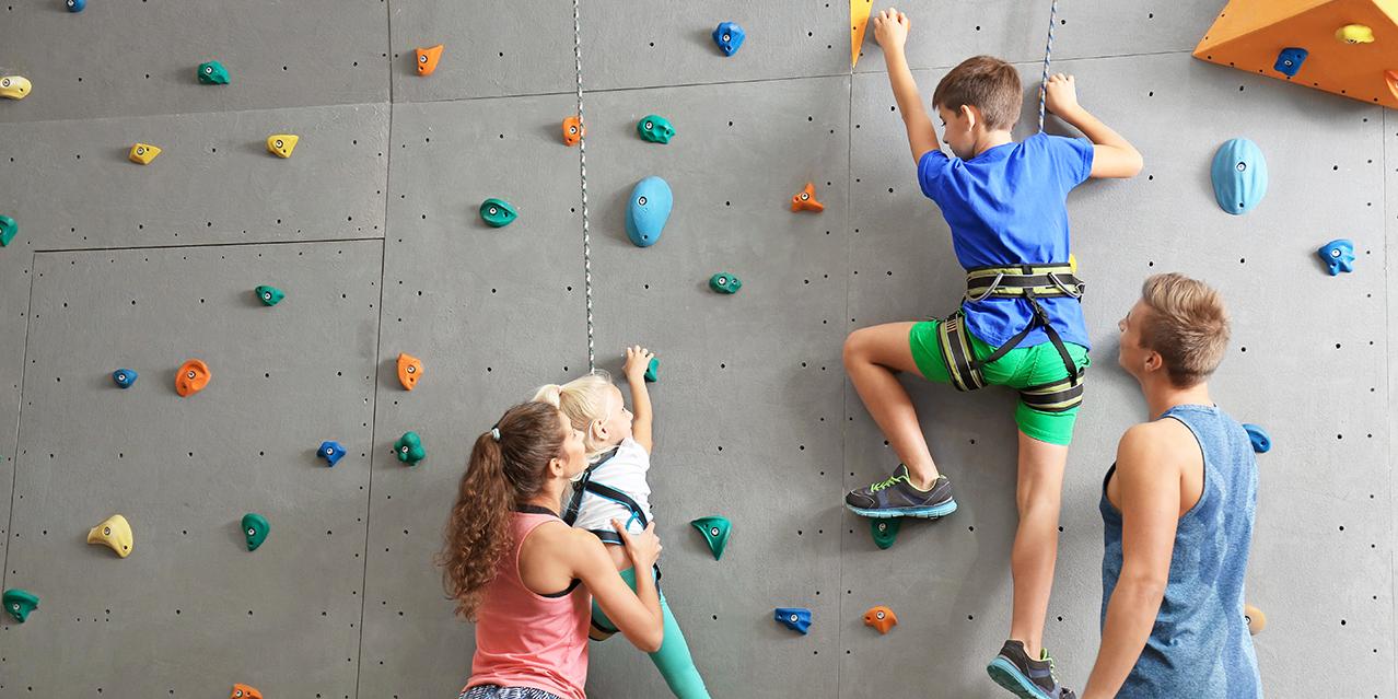 rockclimbing family