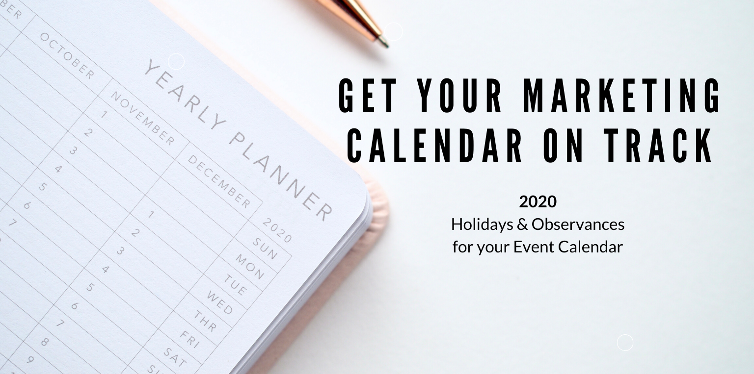 Get your Marketing Calendar on Track